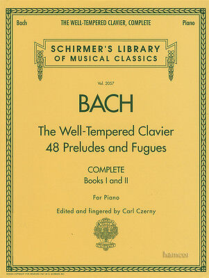 Bach The Well-Tempered Clavier Piano Complete Music Book 48 Preludes & Fugues