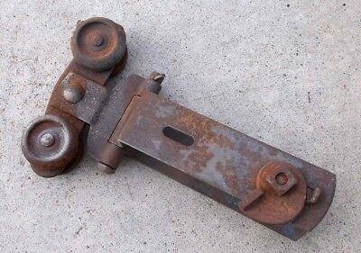 1 Original Vintage Antique Primitive Barn Door Roller Hanger