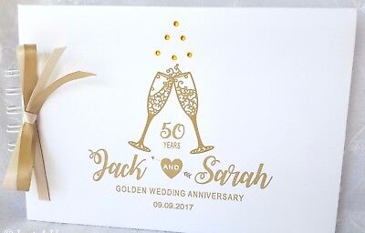 Silver. Ruby.golden Wedding Anniversary Guest Book Memory Scrapbook  Album