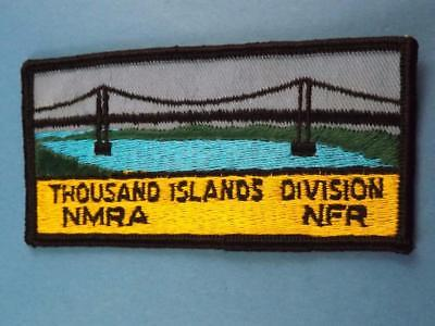 Nmra Thousand Islands Division Patch Vintage  Ontario Model Train Collector