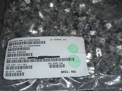 Lot of 1000 E-Switch LL1105VF065Q Tactile Long Life SPST-NO 0.05A 12V WHOLESALE