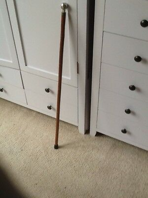 Bamboo Swagger Stick With Solid Silver Pommel