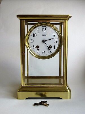 """Chelsea Clock Co. """"CRYSTAL""""  Four Glass Clock.  Serial No. 133376.  1917."""