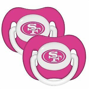 Baby Fanatic San Francisco 49ers Pink 2-pack Infant Pacifier Set - 2014 NFL Baby