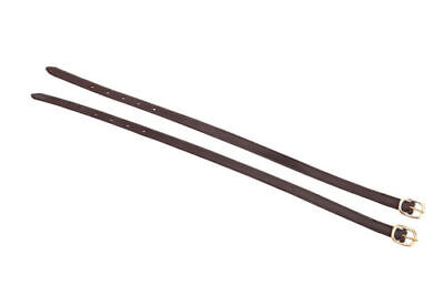 HORKA Calfskin Leather Spur Straps - Brown/Gold - 45cm