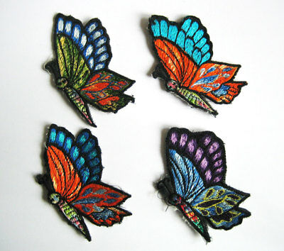 4 Aufnäher PATCHES Schmetterling Butterfly Admiral Falter Patch Goa Indien Nepal