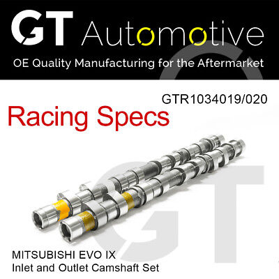 RACING CAMSHAFT SET Inlet/Exhaust Camshafts for MITSUBISHI EVO IX