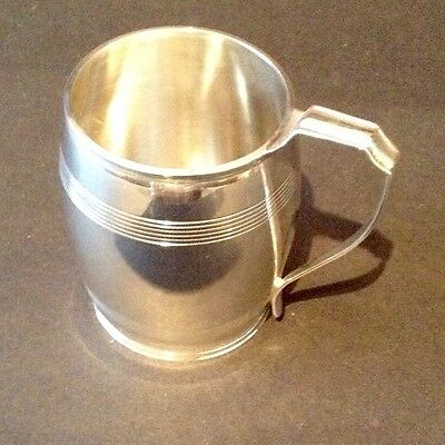 Lovely Solid Silver Mug/tankard London 1932