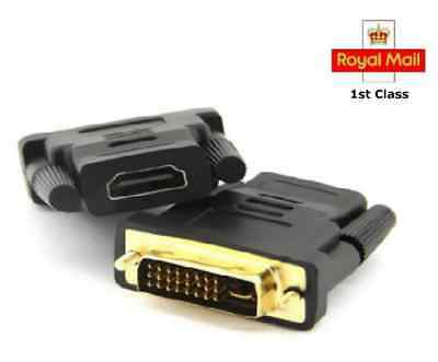 DVI Male to HDMI Female Gold Plated Connector Adapter Converter HDTV DVD Monitor