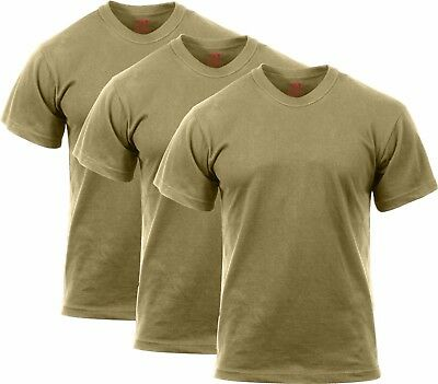 3 Pack Coyote Brown Official AR 670-1 US Army 100% Cotton Solid Military ae7de308b13