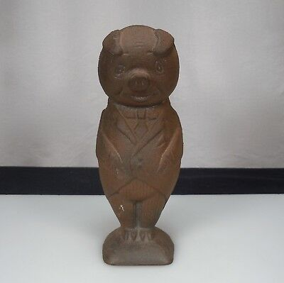 Vintage Cast Iron Piggy Bank on North Manchester Foundry