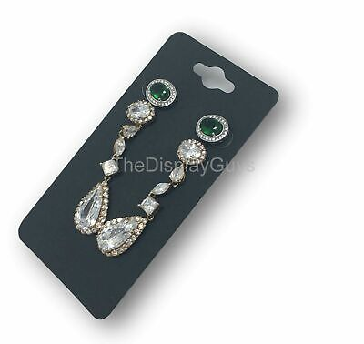 "500pc 2x4"" Inch Black Paper Earrings Display Hanging Cards for Jewelry Accessory"