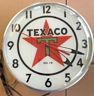 Texaco Vintage Lighted clock, display sign