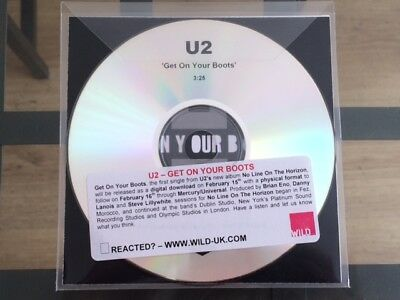 U2: Get On Your Boots - Rare UK Advance Promo CD With *ANGLO PLUGGING* Sticker
