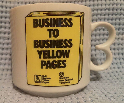 Yellow Pages Mug Southern New England Telephone Bell system Cup SNET Coffee