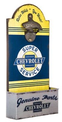Chevrolet Bottle Opener Wall Decor Perfect For Home Bar Man Cave Vintage Look!
