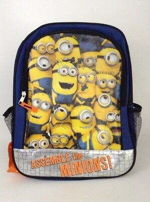 """NEW Despicable Me Assemble the Minions 16"""" Kids Book Bag School Bag Backpack"""