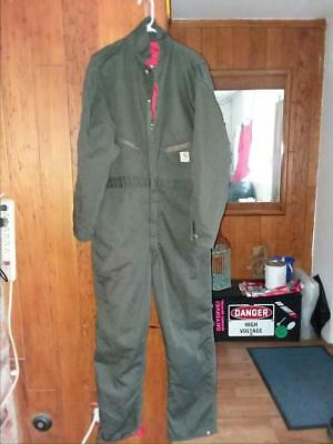 Carhartt 46L Red Quilt Lined Coveralls