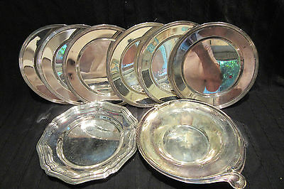"""6-VTG Antique FB ROGERS SILVER CO-1025-Silverplate 6"""" Bread Plates &  2 EXTRA"""