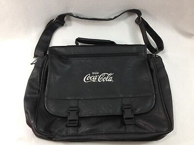 Coca Cola Simulated Leather Deluxe Saddlebag Messenger Laptop Bag Work Travel