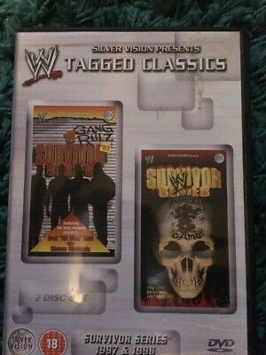 WWE - SURVIVOR SERIES 1997-1998 TAGGED CLASSIC DVD 2-Disc Set (WWF)