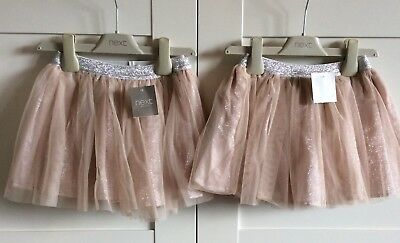 Absolutely Gorgeous Twin Baby Girls Tutu Style Skirts By NEXT, 9-12 Months BNWT