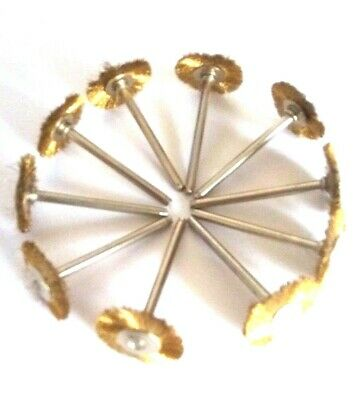 10x BRASS WIRE BRUSHES for dremel /foredom