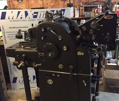 A.B.Dick 360 Offset Printing Press w/ T-Head and Chain Delivery
