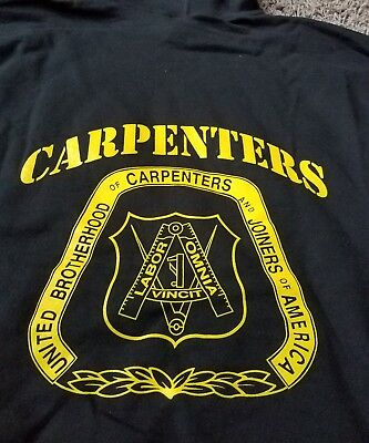 UNITED BROTHERHOOD of CARPENTERS UNION hoodie size XL
