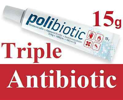 15g First Aid Triple Antibiotic Cream Acne Pimple Sore Infection Expiry  2019 UK