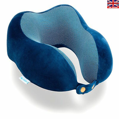 Neck Cushion Memory Foam Travel Supersoft Pillow Sleep Support Holiday Car Home