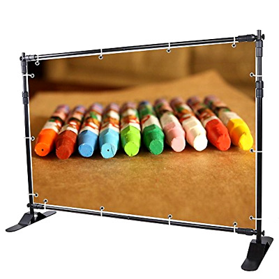 Yescom Step and Repeat Display Backdrop Banner Stand Adjustable Telescopic Trade