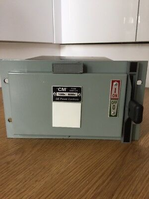 GEC 100 AMP 3 Phase Miniform Switch And Draw