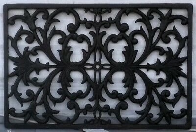 Antique Architectural Decorative Wrought Iron Panel Window / Heat Grate VIntage
