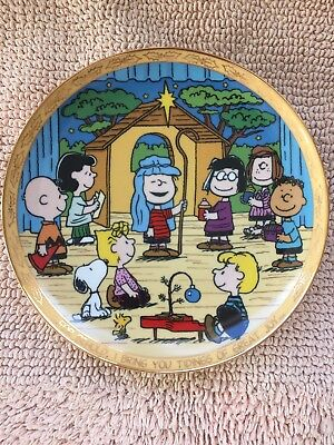 "The Danbury Mint Collectible Plate ""Peanuts Nativity"" No. A3753"