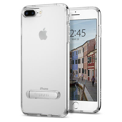 For iPhone 8 Plus / 7 Plus Spigen® [Ultra Hybrid S] Clear Kickstand Case Cover