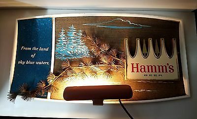 Vintage Hamm's Lighted Beer Pine Branch  Sign Item # 6700 Theo Hamms Light Works