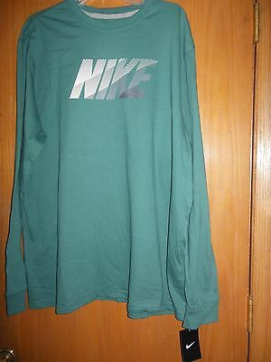 Nike Men's Long Sleeve Tee Shirt Size 2xl Sport Teal