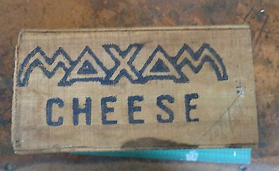 Vintage wooden packing box branded MAXAM CHEESE