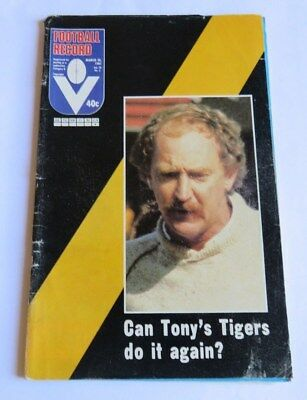 1981 VFL Football Record - Carlton v Richmond at VFL Park