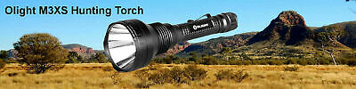 Olight M3XS LED Torch Hunters Kit Charger Battery + Gun Mount Tail Switch