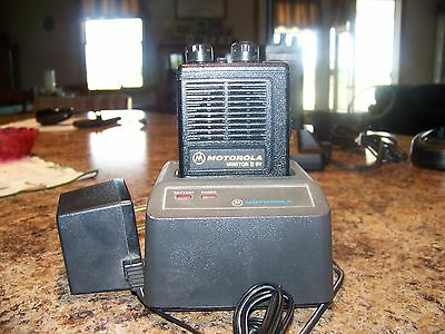 """Motorola Minitor II SV Pager w/2 CH VHF  """"Stored Voice"""" w/Charger"""