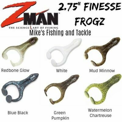 "Zman 2.75"" Finesse Frogz Soft Plastic Lures 4pk Choose Colour"