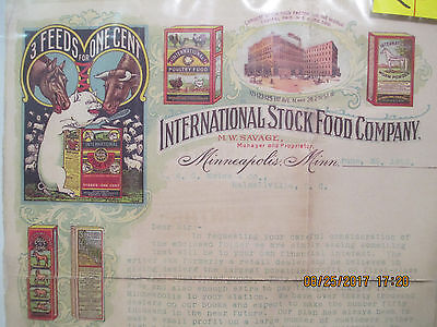 Vintage 'International Stock Foods' Letter to Become Salesman for Co. 1902