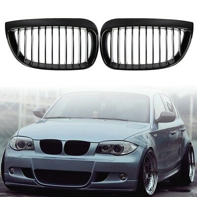 Front Kidney Gloss Black Grilles Grille For Bmw E81 E87 1 Series 2004-2007