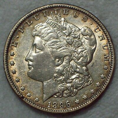 1896 O Morgan Dollar SILVER US Semi-Key COIN Authentic XF Detailing US $1 Coin