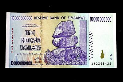 Zimbabwe New $10,000,000,000 Ten Billion Dollars Note ~ Buy It Now Only £1.99