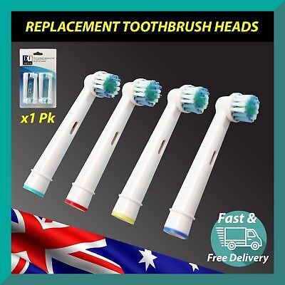 4x Oral B Compatible Electric Toothbrush Replacement Brush Heads Daily Touch