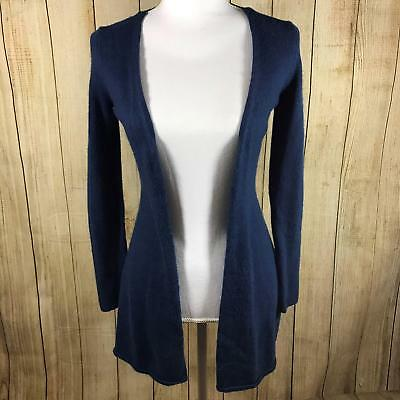 Ann Taylor Womens Cardigan Sweater Size Small S Blue Cozy Long Sleeve Casual
