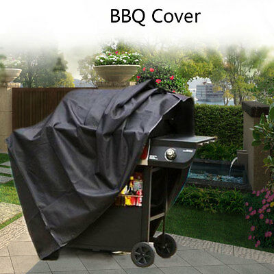 Outdoor Waterproof Dustdproof Gas BBQ Grill Barbecue Cover Protector Black